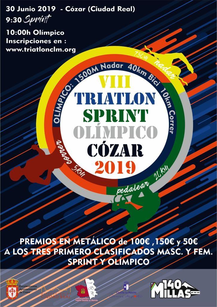 Abiertas inscripciones para el Triatlón de Cozar- Olimpico  y Sprint